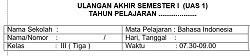 Soal UAS 1 Bahasa Indonesia SD MI Kelas 3 Dan Kunci Jawabannya