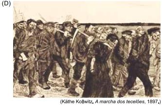 Kathe Kollwitz. A marcha dos tecelões, 1897