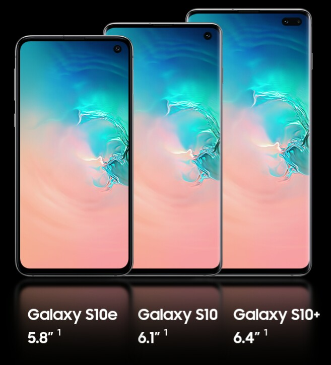 Samsung Galaxy S10 S10 + and S10e