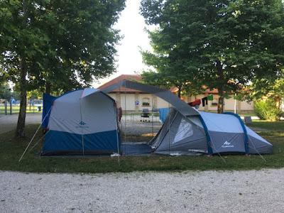 Pole kempingowe namiotowe Lipóti Termál Camping w Lipot na Węgry, parcel 56