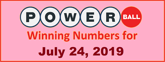 PowerBall Winning Numbers for Wednesday, July 24, 2019