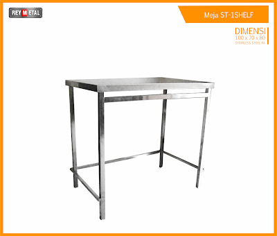 jual meja stainless 1 shelf by reymetal.com