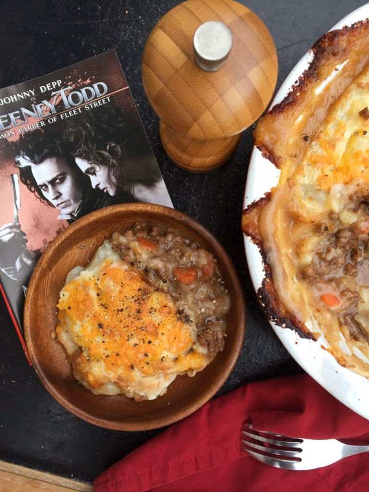 Mrs. Lovett's Peppered Shepherd's Pie Sweeney Todd #FoodnFlix