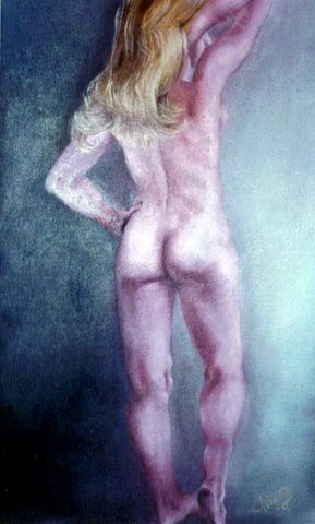 Oil on Masonite 20 x 30, 1980.  Collector not recorded. Timeless Expression by Maguire