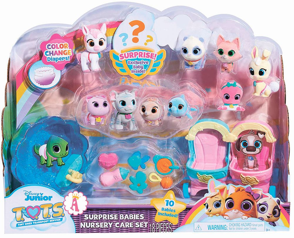 Disney Jr T.O.T.S. Surprise Babies Nursery Care Set