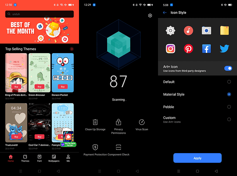 Other features of realme UI
