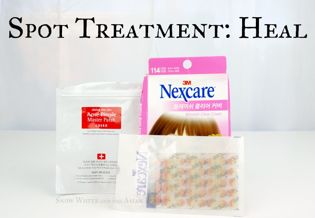 Cosrx and 3M Nexcare hydrocolloid acne stickers