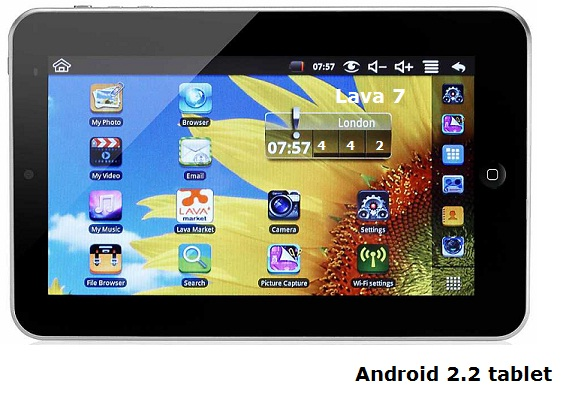 Lava 7 Android 2.2 tablet review