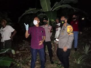 Polsek Tanasitolo Datangi Tkp Penemuan Mayat Di Abbolongen Wajo