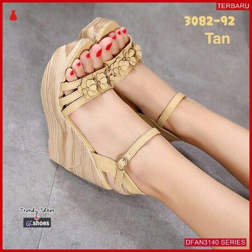 DFAN3140S118 Sepatu Zr01 Rm14 Wedges Wanita Murah Terbaru BMGShop