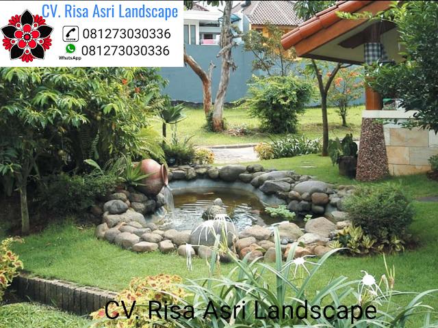 cv. risa asri landscape gambar desain kolam minimalis ikan koi kolam hias batu alam