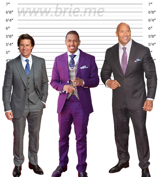 Nick Cannon height comparison with Tom Cruise and The Rock