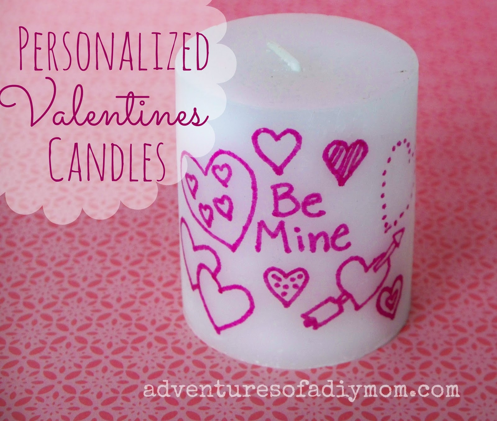 Personalized valentines Candles