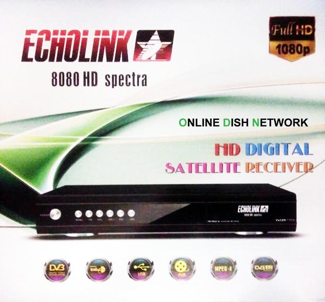 Echolink 8080 HD Spectra Receiver Auto Roll Powervu Software