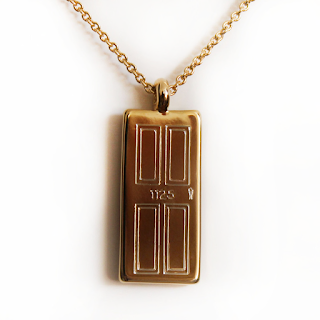 14-karat gold dipped door necklace housewarming