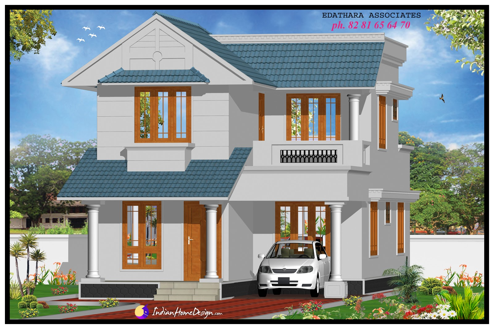Sqft Modern Double Floor Kerala Home Design