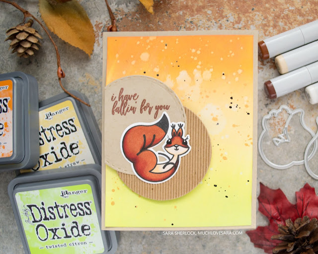 These squirrely and fun handmade cards, were created using the Picket Fence Studios A Little Nuts stamp set, and coordinating dies.  All of the supplies used can be found on the blog post.