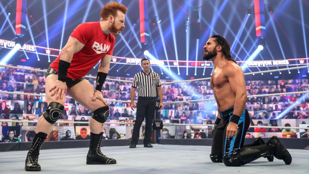 Sheamus and Seth Rollins on WWE Survivor Series 2020