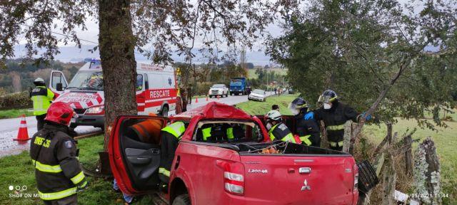 Accidente en Lago Ranco