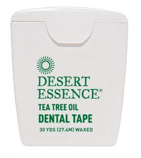 خيط تنظيف الاسناني نباتي من اي هيرب Desert Essence, Tea Tree Oil Dental Floss, Waxed, 50 Yds (45.7 m)