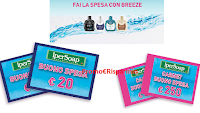 Logo ''Fai la spesa con Breeze'' e vinci buoni spesa Ipersoap da 20€ e 250€
