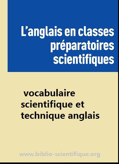 Livre : Anglais scientifique pour les prépas PDF