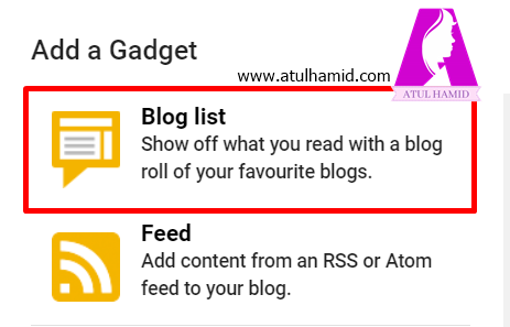 Cara buat bloglist di blogspot