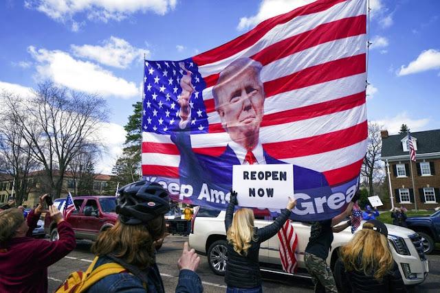 Gubernur Washington Marah, Trump Justru Dukung Aksi Demo Tolak Lockdown