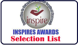 Inspired Award - 2020 Students Selection List