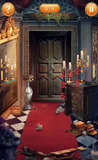 На комоде в комнате стоят свечи. Их необходимо зажечь, при этом происходит отражение в зеркале шкафа напротив