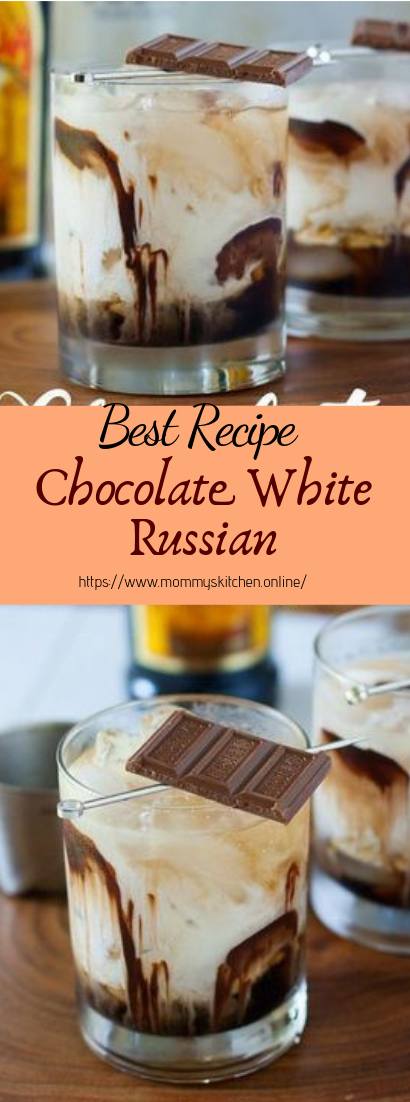 Chocolate White Russian #healthydrink #easyrecipe #cocktail #smoothie