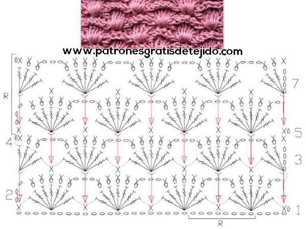bufanda-de-abanicos-cerrados-crochet