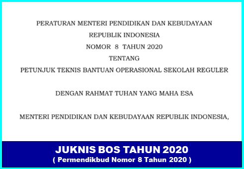 Petunjuk Teknis Bantuan Operasonal Sekolah Tahun 2020