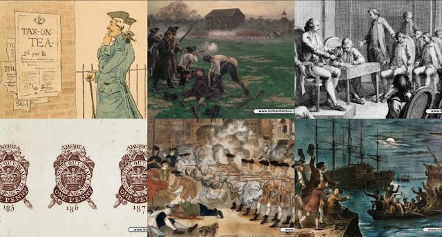 7 Sự kiện dẫn đến Cuộc cách mạng Mỹ