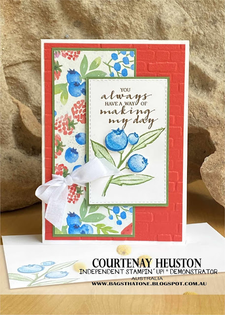 Blueberry Thank You Card