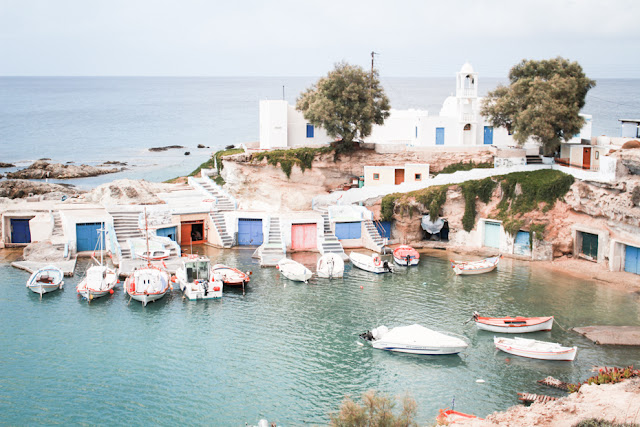 mandrakia, isla de milos, grecia