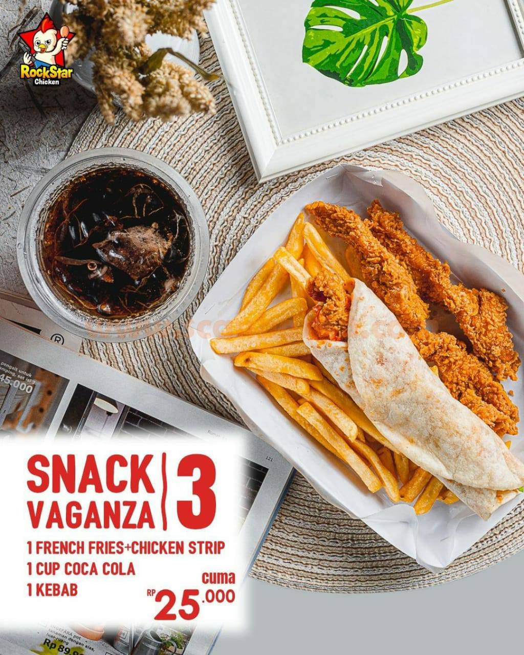 Promo Rockstar Chicken Paket Snack Vaganza 4