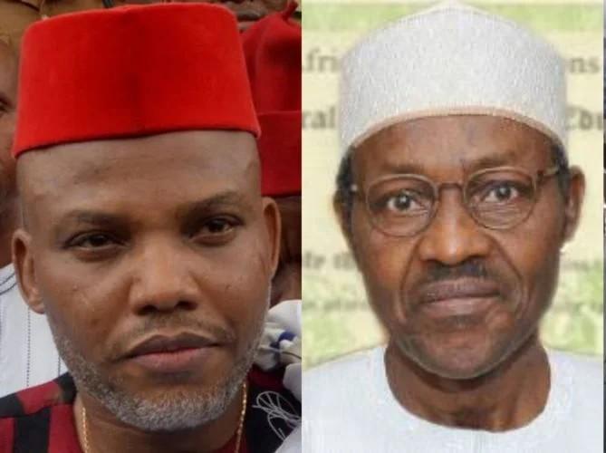 "Let me make it clear, ""Buhari is replaced By Jubril"" not Atiku ""being Cameronain"" – Kanu Blasts Abba Kyari"