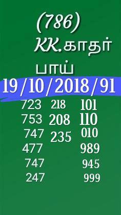 Kerala Lottery Guessing by K Kadar Bai dated 19.10.2018 Nirmal NR 91