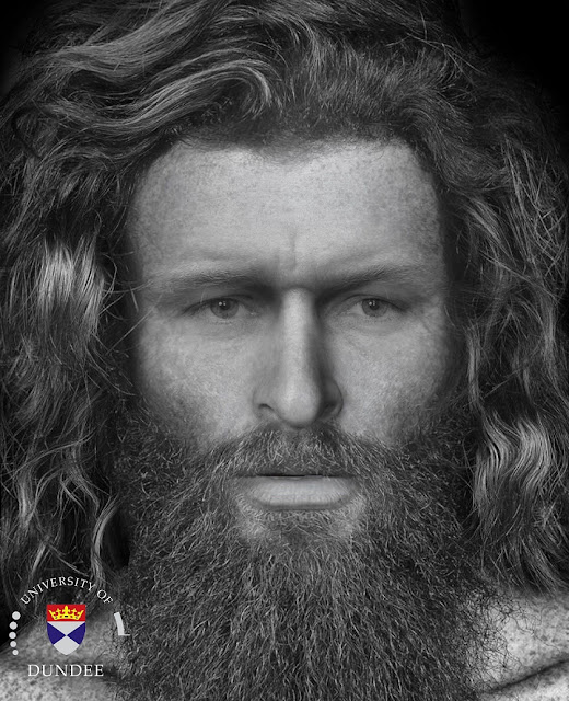 Face of 'brutally murdered' Pictish man reconstructed