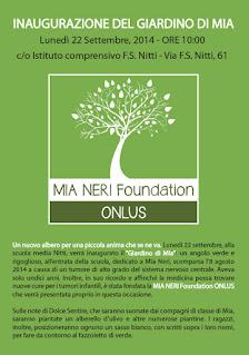 inaugurazione giardino di Mia Neri