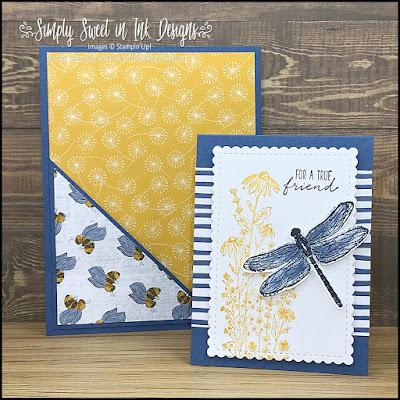 Sweet pocket card using the Dragonfly Garden bundle!