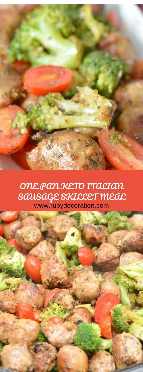 One Pan Keto Italian Sausage Skillet Meal