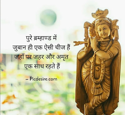 20 Best Krishna Quotes in Hindi with Images
