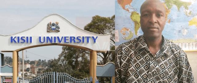 A Kisii University lecturer  Peter Nyang'acha Moracha photo