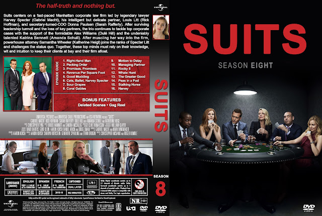 Suits Season 8 DVD Cover