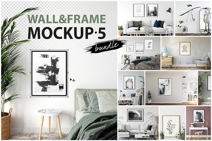 Download Mockup - Frames & Walls Mockup Bundle 5