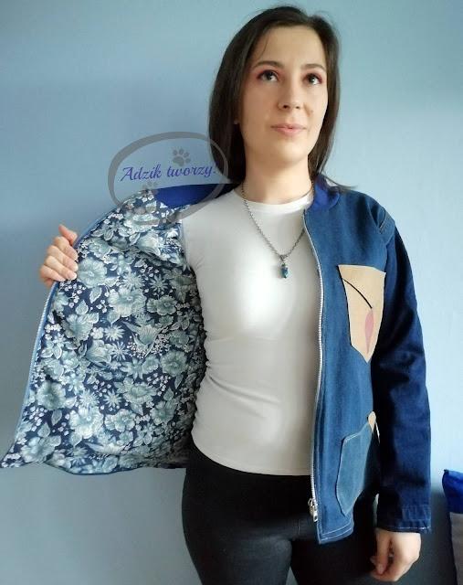kurtka jeansowa DIY ze spodni