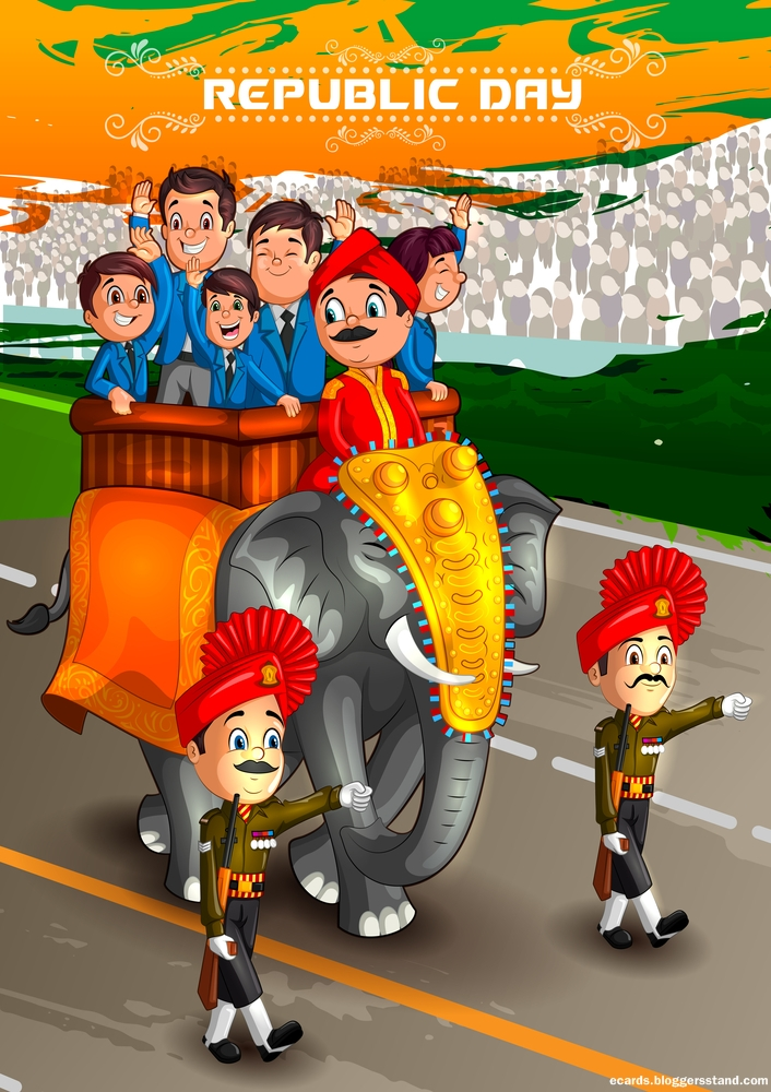 Happy republic day 2021 celebration images Indian Army with elephant