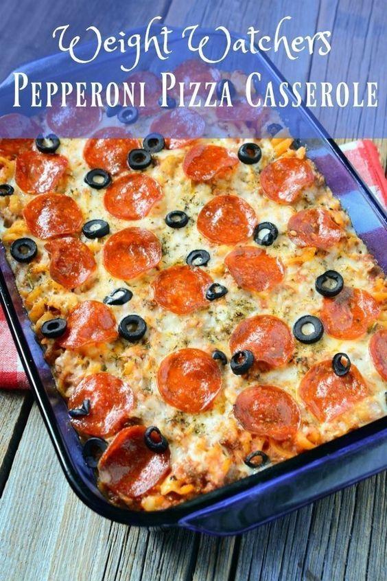 Weight Watchers Pepperoni Pizza Casserole